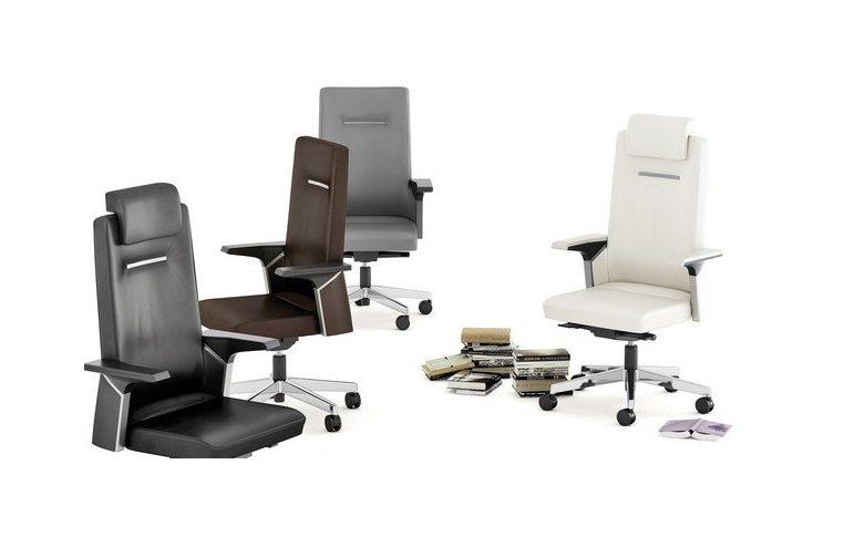 Кресла для руководителя: купить Кресло Sokoa K01 кожаное - 4