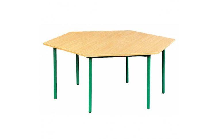 Школьные парты: купить Стол шестиугольный регулируемый по высоте - 1