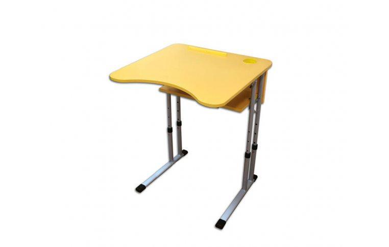 Школьные парты: купить Стол ученический одноместный с регулировкой высоты и угла наклона столешницы 0-8° - 1