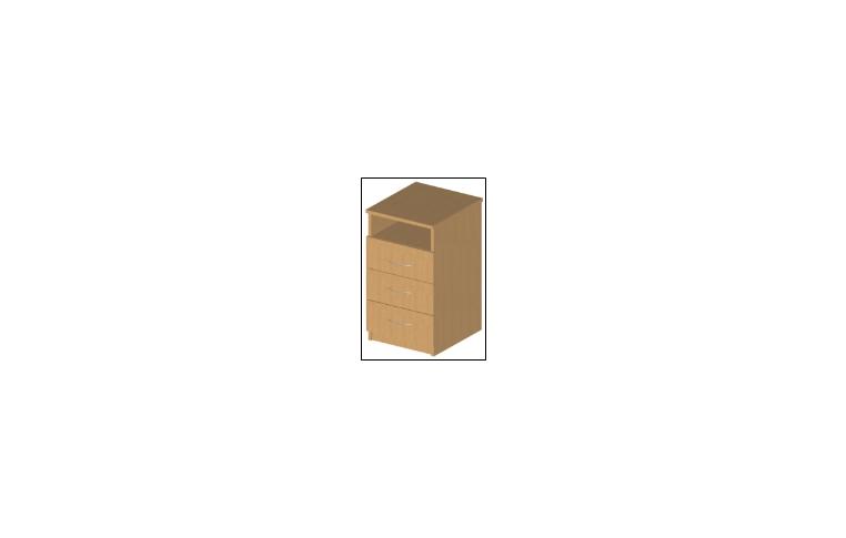 """Офисные тумбы: купить Тумба приставная серия """"БЮРО"""" ОБ1-102 (ДСП бук) - 1"""