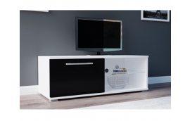 Тумба под ТВ Moon 100 белый/черный Accord - Тумбы под телевизор