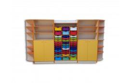 Шкаф для хранения дидактического материала с лотками
