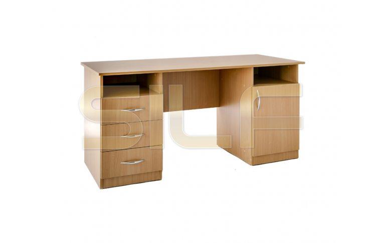 Письменные столы: купить Стол двухтумбовый СД-02 (ДСП бук) - 1