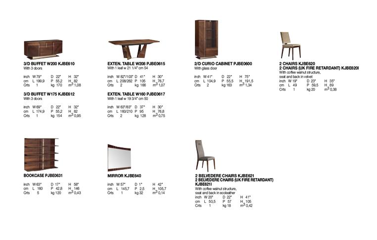 Итальянская мебель для столовой: купить Столовая в современном стиле Bellagio Alf Group - 2