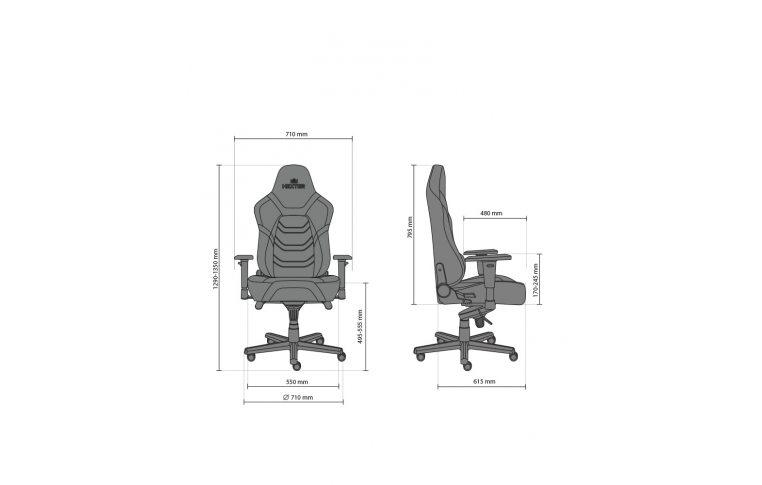Игровые кресла: купить Кресло для геймеров Hexter xr r4d mpd mb70 Eco/01 Black/Grey - 16