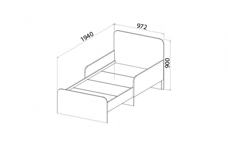Детская мебель: купить Детская кровать (Джой) Joy с бортиком LuxeStudio - 2