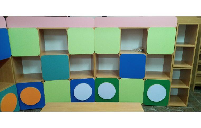 Мебель для детского сада: купить Стенка детская Паровозик - 3