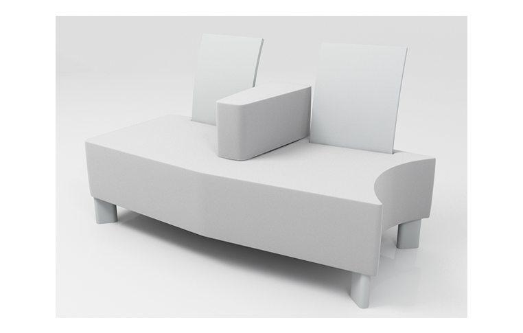 Офисные диваны: купить Модуль Флай 2-х СПП, левый - 1