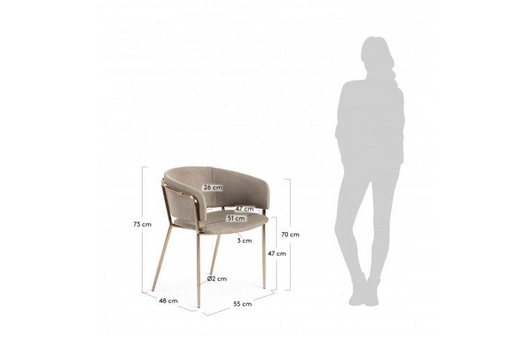 Кухонные стулья: купить Стул Konnie серо-коричневый золото La Forma - 5