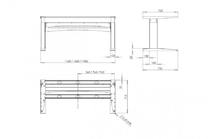 Эргономичные столы: купить Стол с регулируемой высотой 501-11 1S(B) - 2