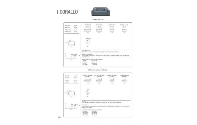Итальянская мебель: купить Диван раскладной Corallo - 3