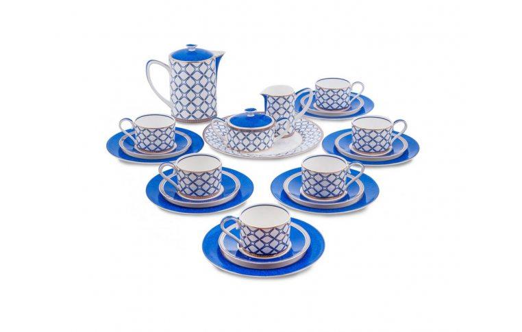 Декор для дома: купить Чайный сервиз из костяного фарфора на 6 персон «Элегантность» JK-92 - 1