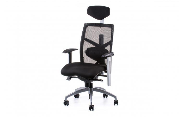Офисные кресла: купить Кресло EXACT BLACK FABRIC, BLACK MESH - 1