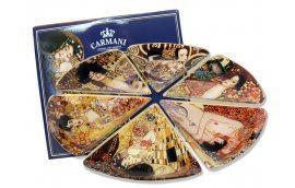 Набор стеклянных тарелок (Г.Климт)
