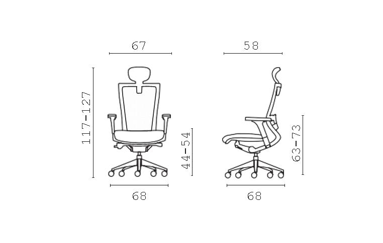 Кресла для руководителя: купить Кресло X-chair Milani - 7
