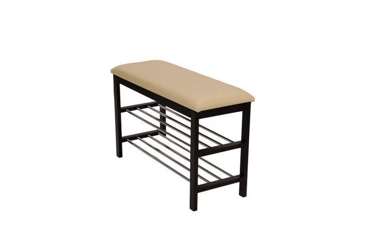 Мягкая мебель: купить Скамейка с подставкой для обуви цв. Орех SR-0628 - 1