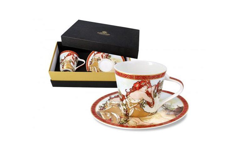 Декор для дома: купить Чашка с блюдцем (А. МУХА) - 1