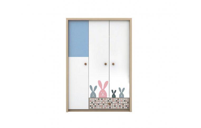 Детская мебель: купить Детский шкаф для одежды Кролик (Bunny) LuxeStudio - 1