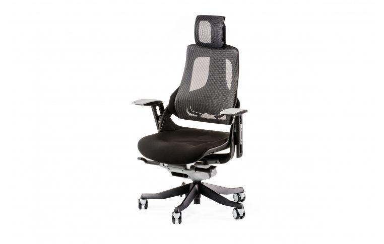 Офисные кресла: купить Кресло WAU BLACK FABRIC, CHARCOAL NETWORK - 1