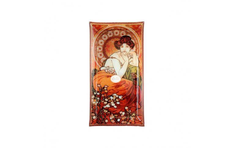 Декор для дома: купить Тарелка декоративная художника Альфонс Мария Муха 'Топаз' - 1