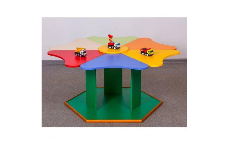 """Школьная мебель: купить Стол №1 """"Ромашка"""" (6 сегментов) - 1"""