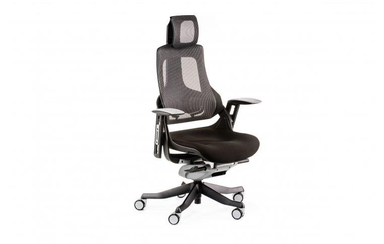 Офисные кресла: купить Кресло WAU BLACK FABRIC, CHARCOAL NETWORK - 6
