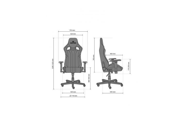 Игровые кресла: купить Кресло для геймеров Hexter Pro r4d Tilt mb70 Eco/03 Black/Blue - 17