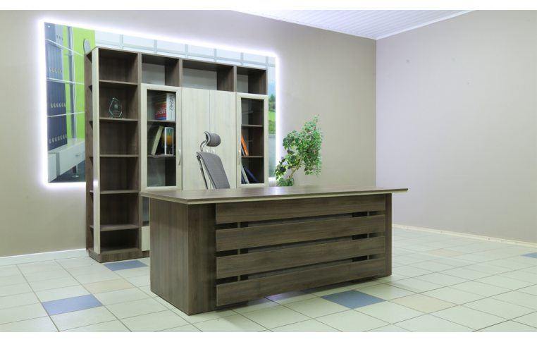 Офисные шкафы: купить Стеллаж финальный кабинета руководителя Сильф Интеграл І-402 - 2