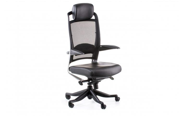 Офисные кресла: купить Кресло FULKRUM BLACK LEATHER, BLACK MESH - 6