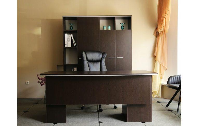 """Мебель для руководителя: купить Кабинет """"Ньюман"""" стол руководителя (венге) - 5"""