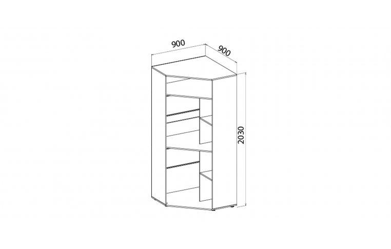 Детская мебель: купить Детский шкаф угловой Яблоко (Apple) LuxeStudio - 2