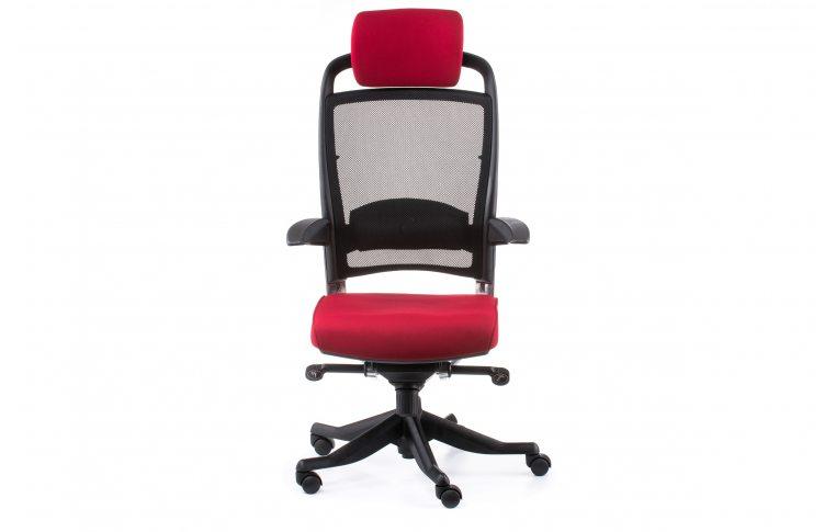 Офисные кресла: купить Кресло FULKRUM DEEPRED FABRIC, BLACK MESH - 2