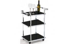 Стол сервировочный D6009 черный Exouse - Сервировочные столики