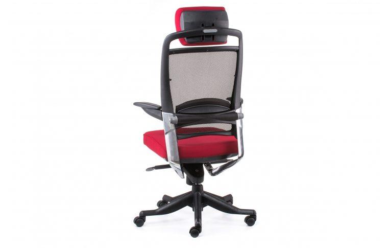 Офисные кресла: купить Кресло FULKRUM DEEPRED FABRIC, BLACK MESH - 4