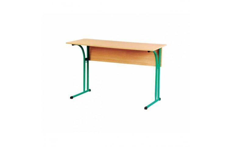 Школьные парты: купить Стол ученический двухместный без полки (с регулируемой высотой) - 1