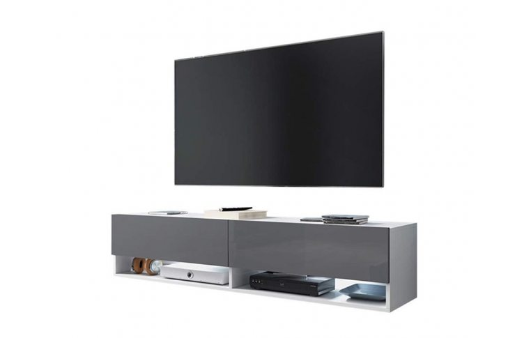 Тумбы под телевизор: купить Тумба под ТВ Domaro 140 белый/серый глянець Accord - 1