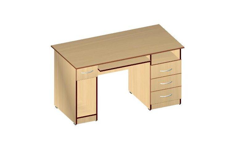 Компьютерные столы: купить Стол компьютерный СК-3Я (ДСП кальвадос) - 1