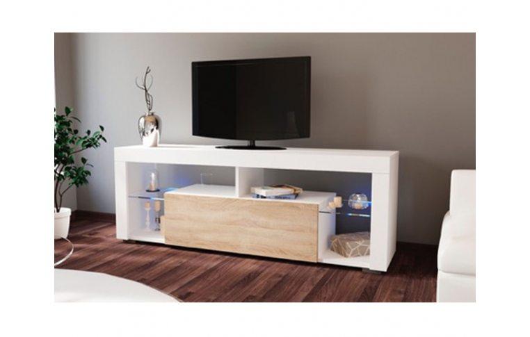 Тумбы под телевизор: купить Тумба под ТВ Hugo 160 белый/дуб сонома Accord - 1
