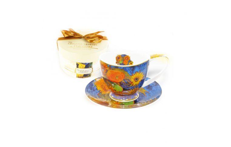 Декор для дома: купить Чашка з блюдцем Ван Гог «Соняшники» - 1