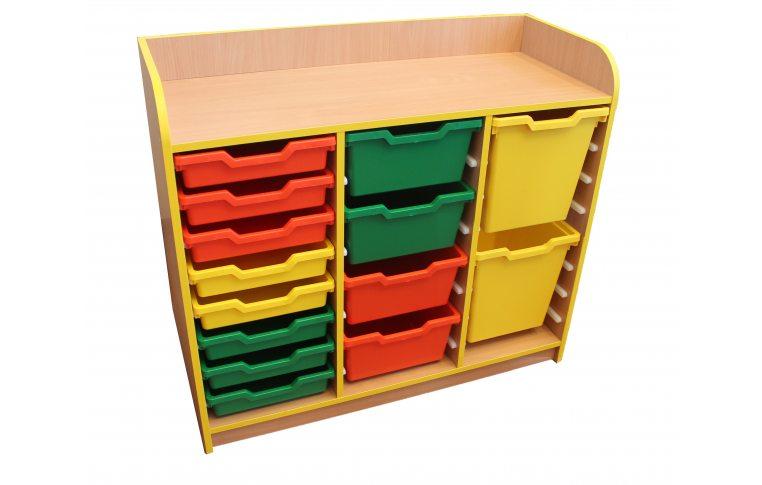 Школьная мебель: купить Тумба под лотки открытая №1 - 1