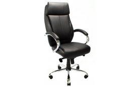 Кресла для руководителя: купить Кресло Монреаль Хром кожзам черный