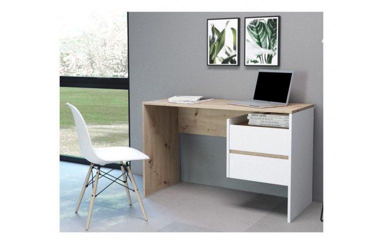 Компьютерные столы: купить Стол Paco-3 дуб артисан белый - 2