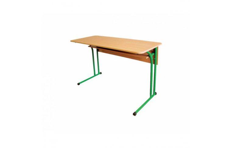 Школьные парты: купить Стол ученический двухместный с закругленной столешницей со сменной высотой - 1