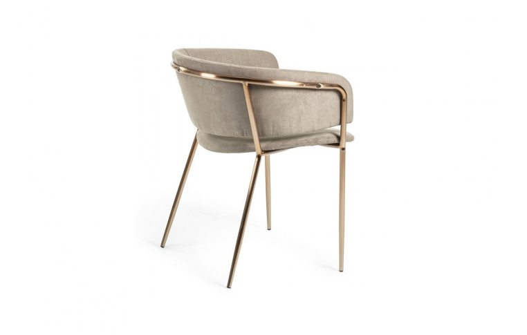 Кухонные стулья: купить Стул Konnie серо-коричневый золото La Forma - 4