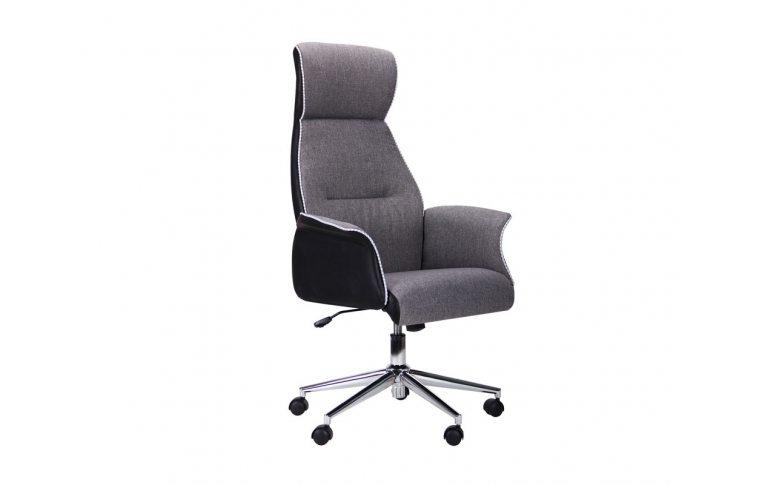 Кресла для руководителя: купить Кресло Brooklyn светло-серый, черный - 1