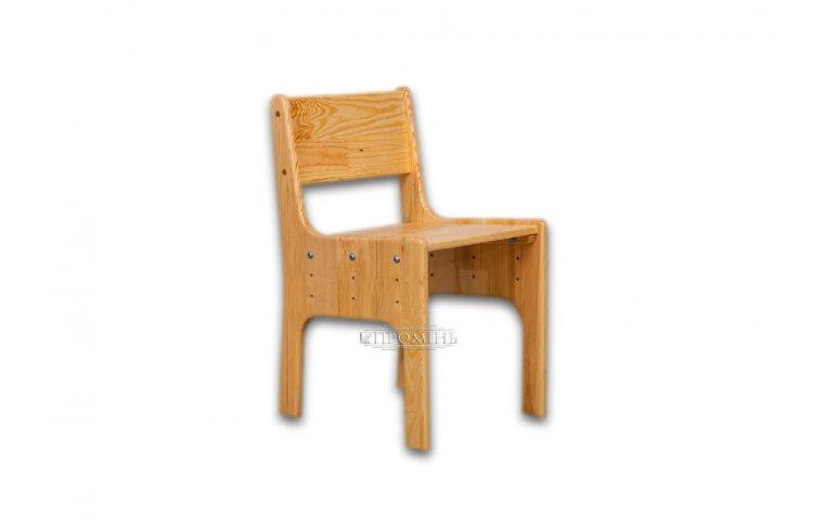 Школьные стулья: купить Стул детский из натурального дерева со сменной высотой (2-4 группа) Сосна - 1