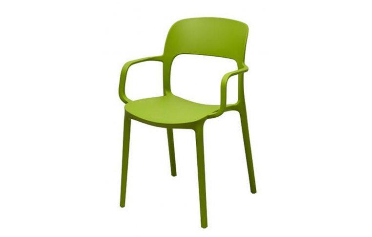 Кухонные стулья: купить Стул Флекси с подлокотником зеленый - 1
