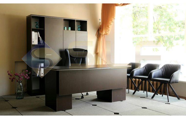 """Мебель для руководителя: купить Кабинет """"Ньюман"""" стол руководителя (венге) - 4"""
