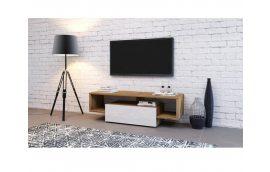 Тумба под TV Hubertus 140 дуб вотан/белый глянец Accord - Тумбы под телевизор