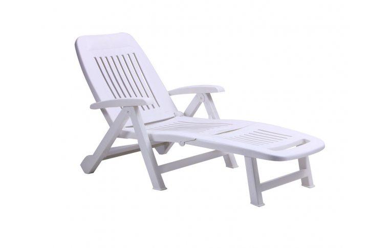 : купить Шезлонг Fiorello пластик белый 01 AMF - 1